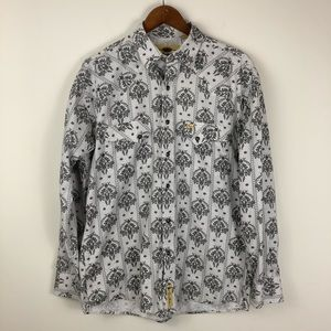 Larry Mahan Patterned Western Pearl-Snap Shirt
